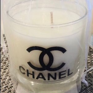 Clear glass scented candles